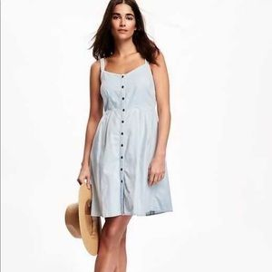 Old Navy Chambray Button Up Sleeveless Dress